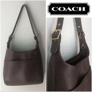 Vintage Coach Purse Brown Leather #9058